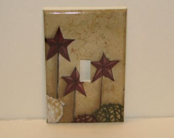 Star Single Switch plate Single Toggle Cover Primitive Country