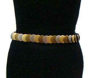 Vintage Stretch Belt Vintage Matte Gold Silver and Bronze Stretch Metal Belt Stretch Belts For Women Womens Elasticated Belts