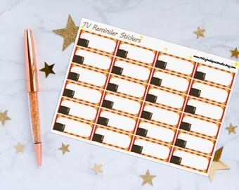 TV Show Movie Reminder Planner Stickers, Movie Stickers, TV Show Reminder, Vinyl Stickers
