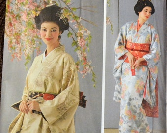 Geisha Costume Sewing Pattern  Simplicity 4080 Geisha Costumes Bust 36 to 42 inches  Uncut Complete Factory Folds