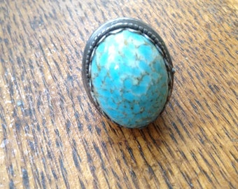 Turquoise Poison Pill Ring - Size 7
