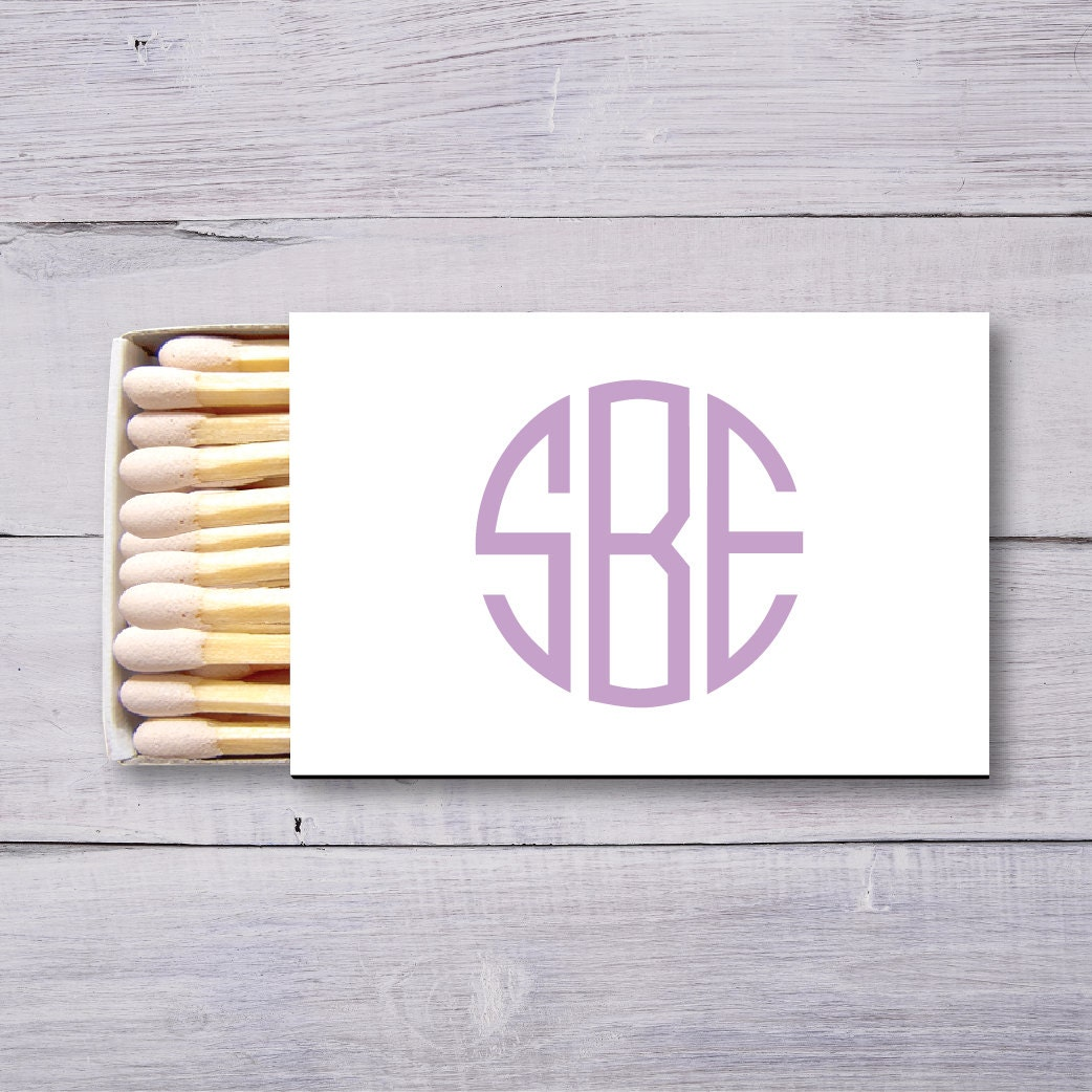 Monogrammed Matches, Wedding Matches, Personalized Matchboxes, Cigar ...