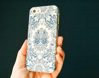 Indigo iPhone 8 Case, Bohemian Blue iPhone 7 Case, Pattern iPhone 6S Case, iPhone 8 Plus Case iPhone SE