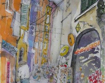 Portovenere 1, Cinque Terre (Italy) - Watercolour