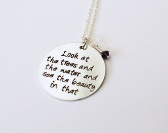 LARGE Custom Hand-Stamped Necklace