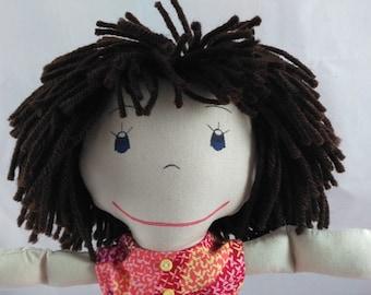 Handmade Soft Doll, Custom Rag Doll, Shower gift, Girls Birthday gift, Wedding Dolls, Personalized Rag Dolls, Plush Doll, Stuffed Doll