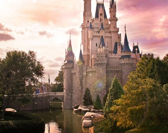 Disney Cinderella's Castle Print 11x14