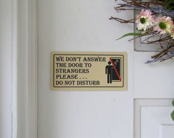 Do Not Disturb Lrg   Do Not Disturb Signs   Don't Knock Signs   Don't Ring Bell Sign   No Soliciting Signs   No Stranger Wall Sign   No Sale