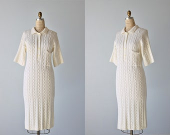 Robe-pull / 1980 s Chunky / robe pull en maille manches courtes / robe câble tricot / Liz Claiborne