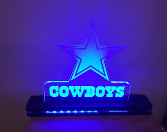 Dallas Cowboys NFL Football Edge Lighted Laser Cut LED Acrylic Sign