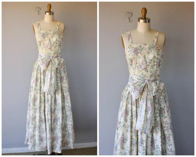 Vintage 1940s Maxi Dress 40s Dress 1940s Gown 1940s