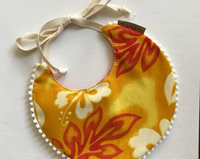 Ilima/Orange Reversible Bib