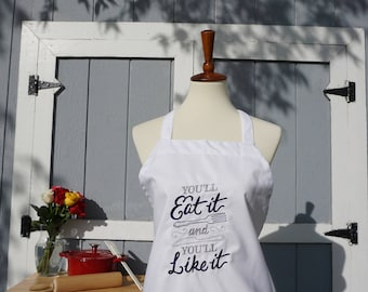 Cook Apron, Bakers Apron, Grill Apron, For Him, For Her, Couple Gift, Wedding Gift, Kitchen Apron, Funny Apron, Embroidered Apron