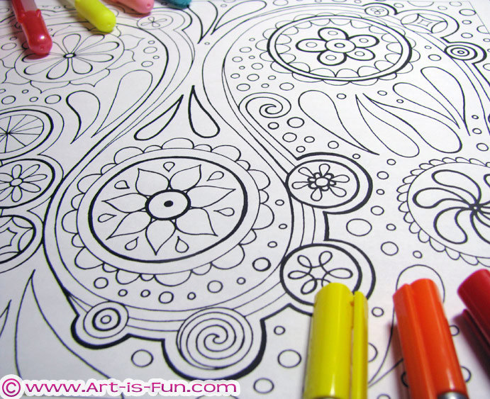 Abstract Coloring Pages Pdf 20 Printable Blank Abstract Abstract Coloring Pictures