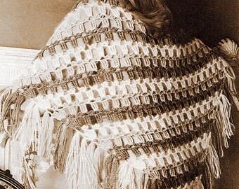 Triangular Shawl Patons Crochet Pattern