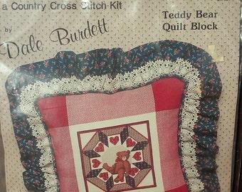Counted Cross Stitch Pillow Kit- Dale Burdett