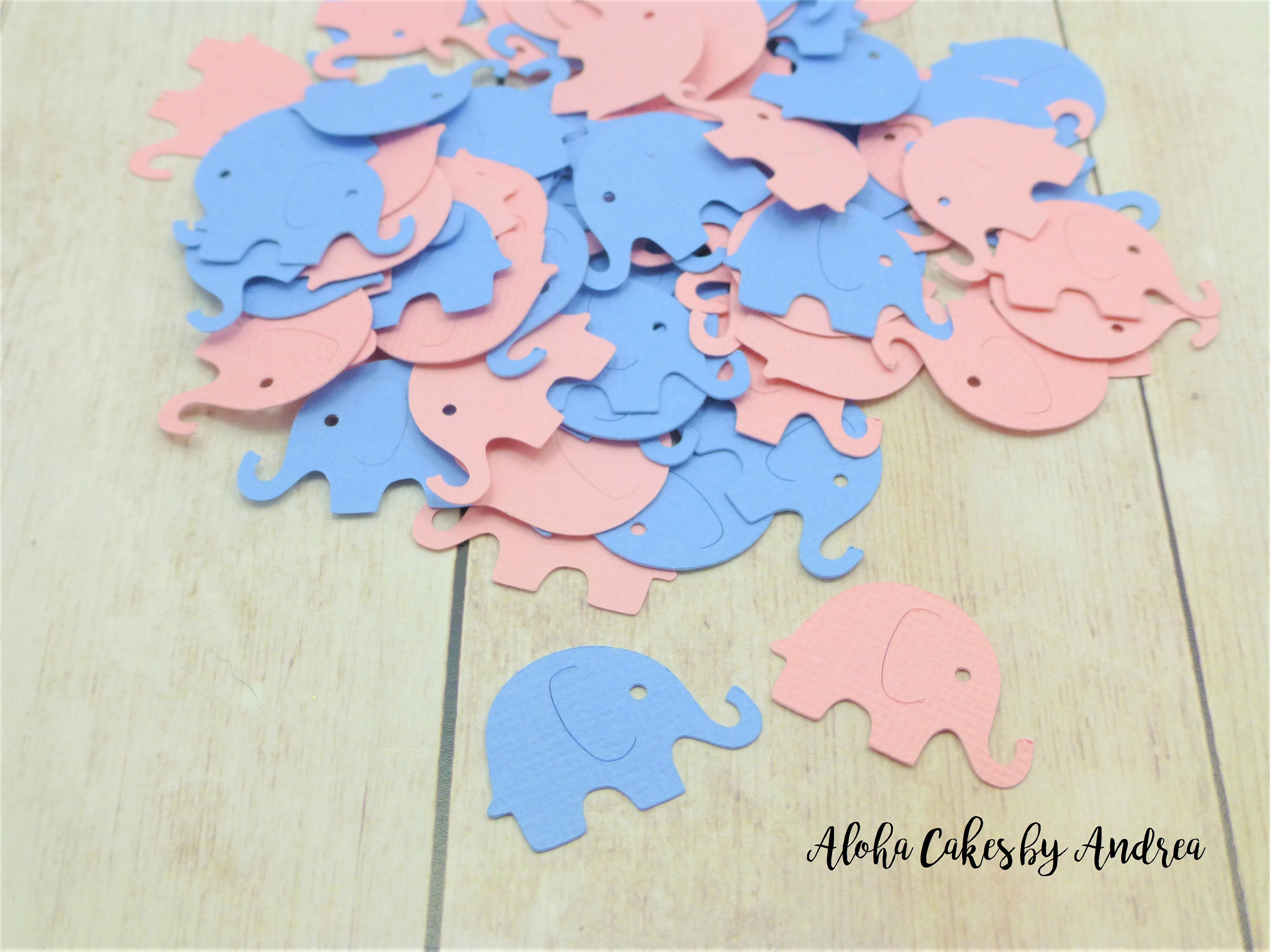 pink elephant baby shower decorations