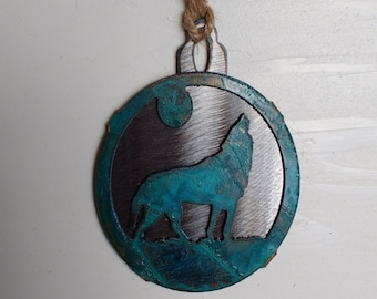 Patina Wolf Ornament