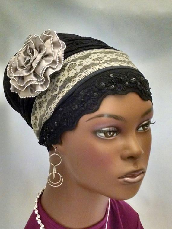 Sparkling lacey sinar tichel, tichels, head wraps, chemo scarves, head scarf
