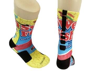 Custom Swedish Fish Nike elite crew socks