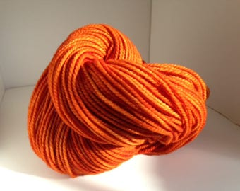 Hand Dyed Wool Yarn 200yds 2-Ply Worsted Wt Burnt Sienna