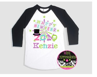 Happy New Year Raglan Shirt Personalized just for you