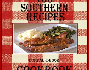 133 Southern Recipes E-Book Cookbook Digital Download