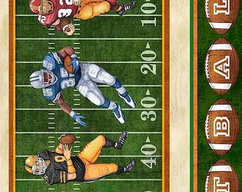Gridiron Stripe Football Sports~Cotton Fabric Clothing,Quilt,Quilting Treasures,26172-G, Fast Shipping,S192