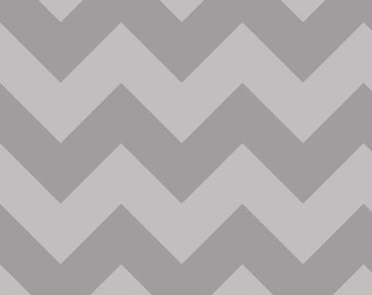 "Large CHEVRON  ~  GRAY Tone- on-Tone ~ 100% Cotton Fabric ~ 1/2 Yard Cut ~ 18"" x 44"" Riley Blake Designs  ~ C390-41"