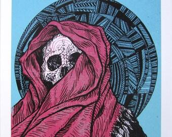 Hooded Skull — giclée print