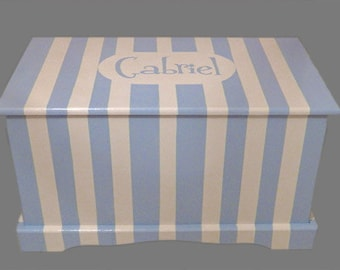 Reserved listing Custom Striped grey and white chest