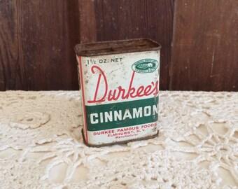 Antique Durkee's Cinnamon Tin