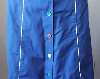 Vintage Blue Skirt by Amelia