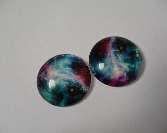 Set of 2 Galaxy cabochon