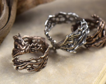 Mandrake Root -- Ring in Bronze or Silver