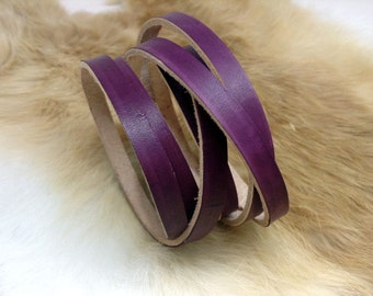 Ladies leather wrap bracelet/cuff with color of choice