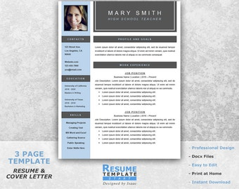 resume 1 page - One Page Resume Template