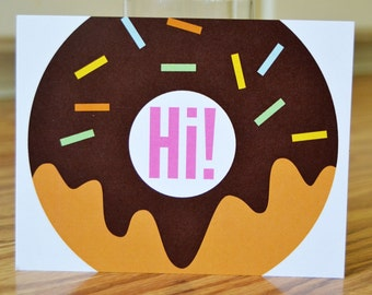 Donut Hello / Hi Stationery / Note Card - Set of 12