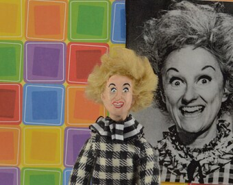 Phyllis Diller-  Doll Miniature- Fan Art- Comedy Character- Funny Lady- Stand Up Comedian