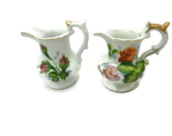 ON SALE - Small Delicate Porcelain China Creamer Pitchers Made in Japan