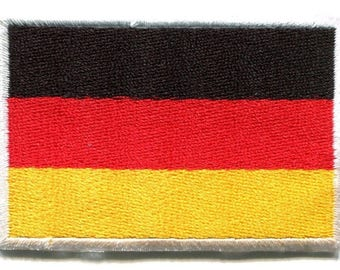 National flag of Germany German embroidered applique iron-on patch Small