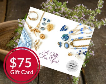 Pop and Glam Vintage Gift Card for 75 Dollars | Gift Certificate | Gift Idea | Bridal Gift | Valentine's Gift | Mailed Gift Card