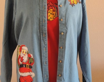Santa and Package Shirt Set