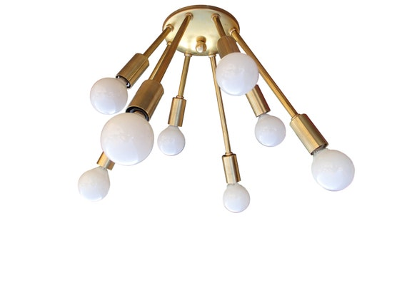 Atomic narrow 8 arm flush mount sputnik ceiling light mid mozeypictures Image collections