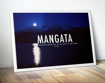 Mangata Wanderlust Motivational Poster - Gift For Travellers, Book Quote Wall Art, Inspiring Quote - Unique Travel Poster, Bathroom Artwork