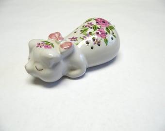 Avon Floral Pig Pomander Sachet Potpourri Ceramarte Piglet Lingerie Drawer Freshner