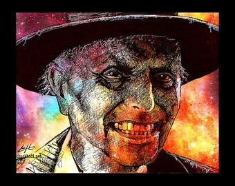 "Print 8x10"" - Reverend Henry Kane - Poltergeist The Beast Preacher Cult Ghost Paranormal Dark Art Horror Pop Art Gothic 80s Lowbrow Deity"