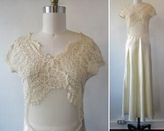 1980s slip   vintage 80s slip   vintage slip   vintage lingerie   vintage bridal lingerie   small   The Golden Hour Before Sunset Slip