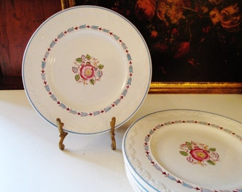 Six Wedgwood Corinthian Evenlode Bread and Butter Plates, English Country, Dessert Plates, Romantic Decor, Tea Party Plates