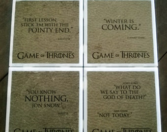 Game of Thrones coasters- 40 designs available for you to make our own custom set of 4